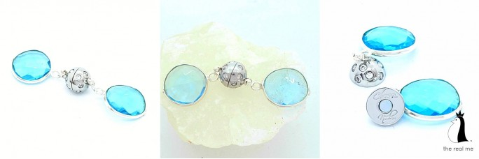 Encased Blue Topaz